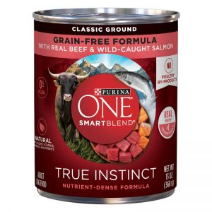 Purina ONE® SmartBlend® True Instinct Classic Ground Grain-Free Dog Food Formula With Real Beef & Wild-Caught Salmon