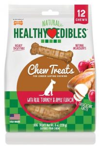 Nylabone Natural Healthy Edibles Turkey & Apple X-Small Dog Bone Treats